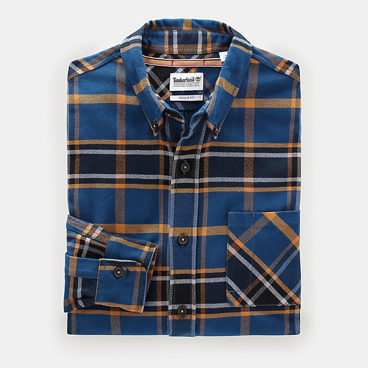 Back River Check Shirt for Men in Yellow-