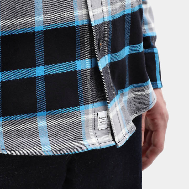 Camicia da Uomo a Quadri Back River in blu-