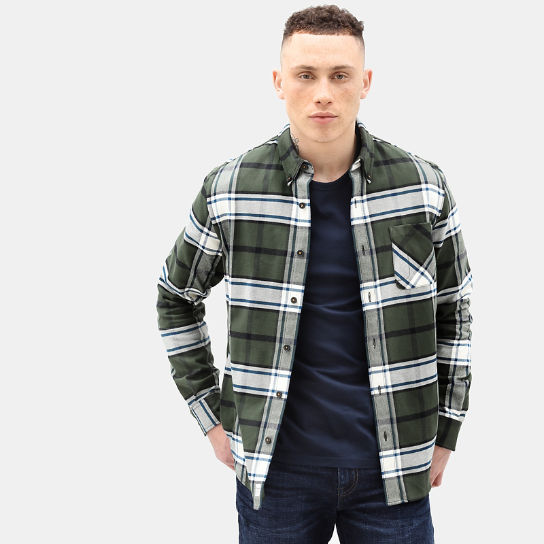 Back River Check Shirt for Men in Green | Timberland