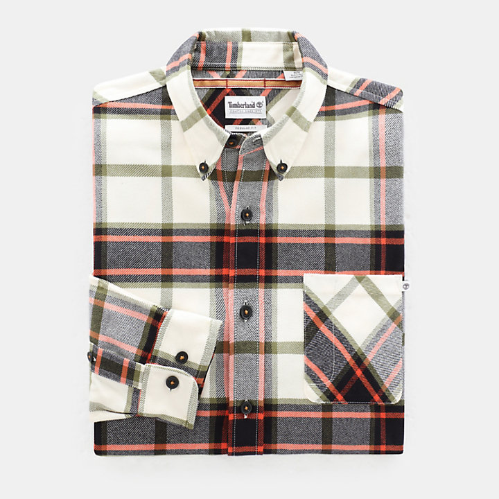 Back River Check Shirt for Men in Orange-
