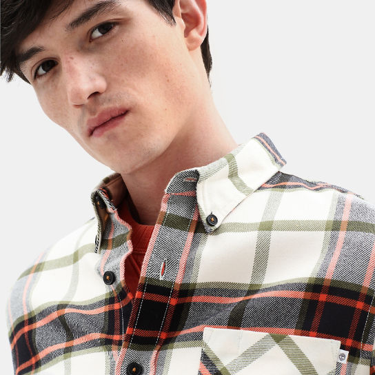 Back River Check Shirt for Men in Orange | Timberland