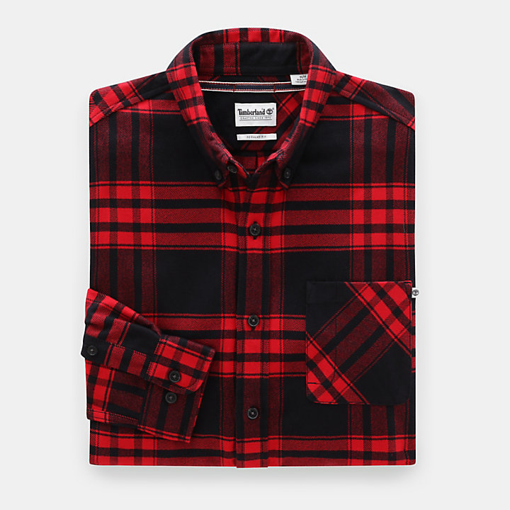 Back River Elbow Patch Shirt for Men in Red-