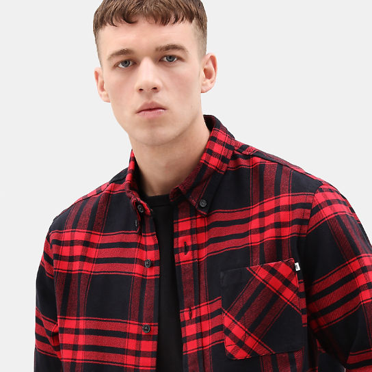Back River Elbow Patch Shirt for Men in Red | Timberland