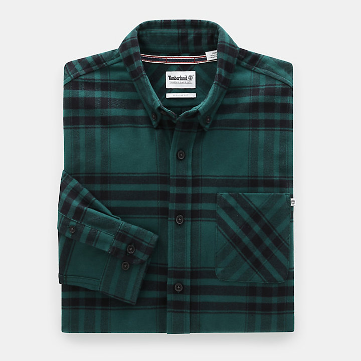 Back River Elbow Patch Shirt for Men in Green-
