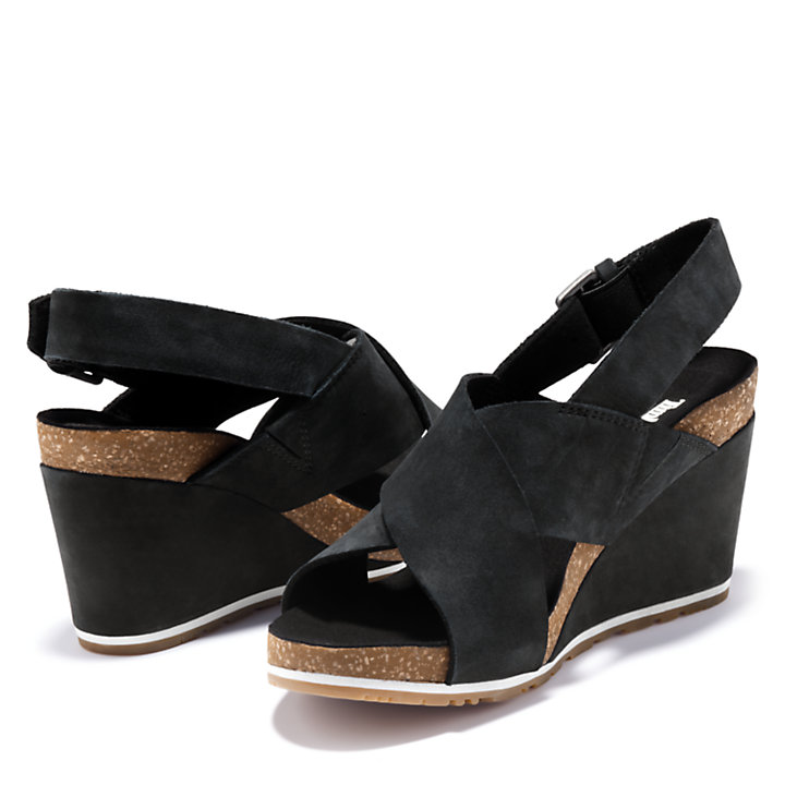 Capri Sunset Sandal for Women in Black-