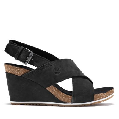 Capri+Sunset+Sandal+for+Women+in+Black