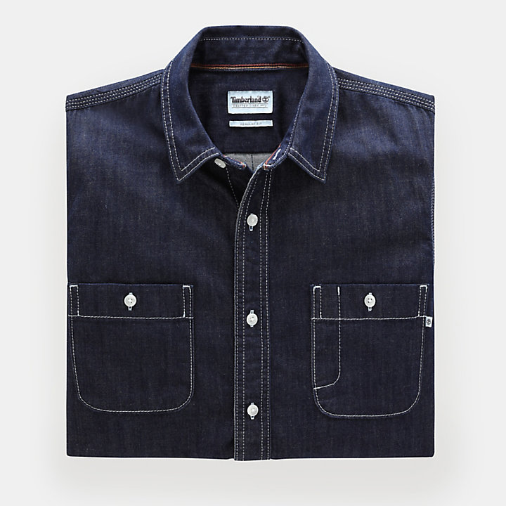 Mumford River Denim Overhemd voor Heren in Indigo-