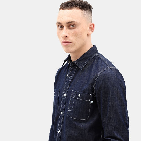 Mumford River Denim Shirt for Men in Indigo | Timberland
