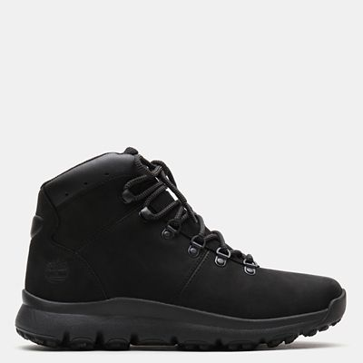 World+Hiker+Leather+Hiking+Boot+for+Men+in+Black+Nubuck