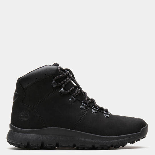 World Hiker Leather Hiking Boot voor Heren in zwart nubuck | Timberland