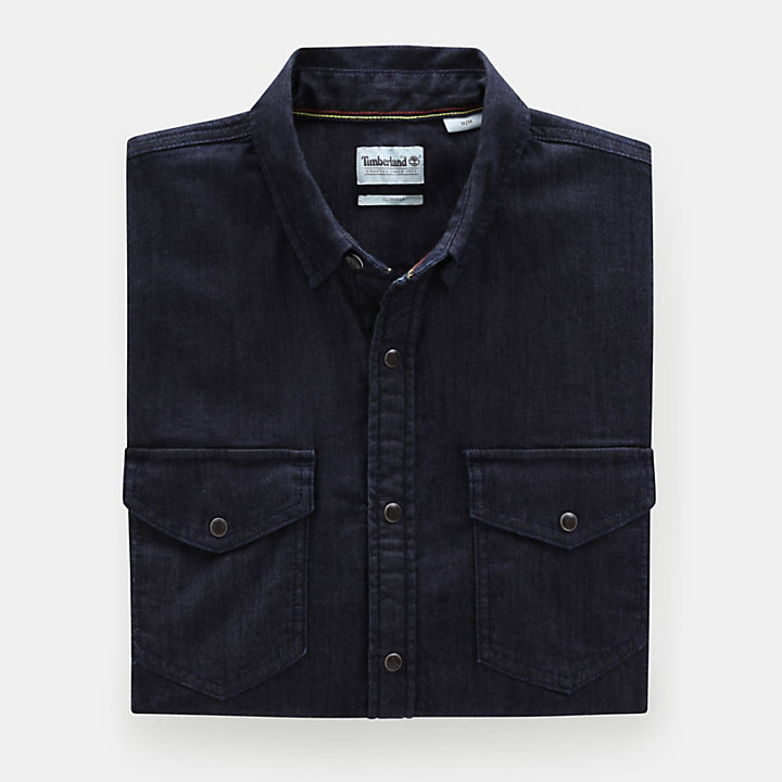 Mumford River Stretch Shirt for Men in Indigo-