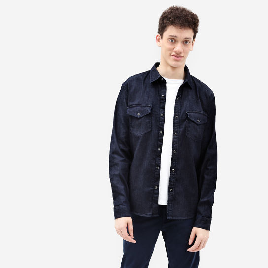 Mumford River Stretch Shirt for Men in Indigo | Timberland