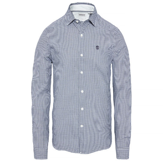 Men's Suncook River Gingham Shirt Navy | Timberland