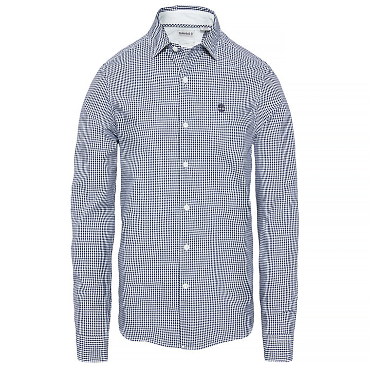 Suncook River Gingham Shirt Heren Navyblauw-