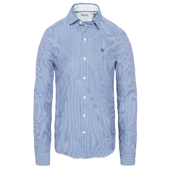 Suncook River Gingham Shirt Indigo Heren | Timberland