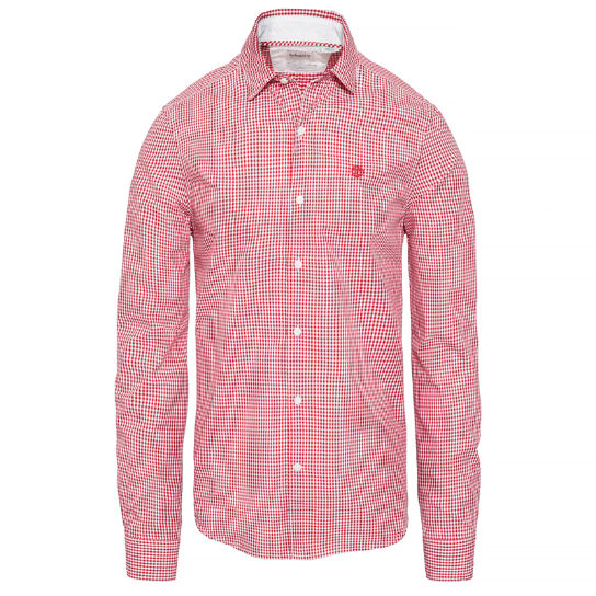 Men's Suncook River Gingham Shirt Red | Timberland