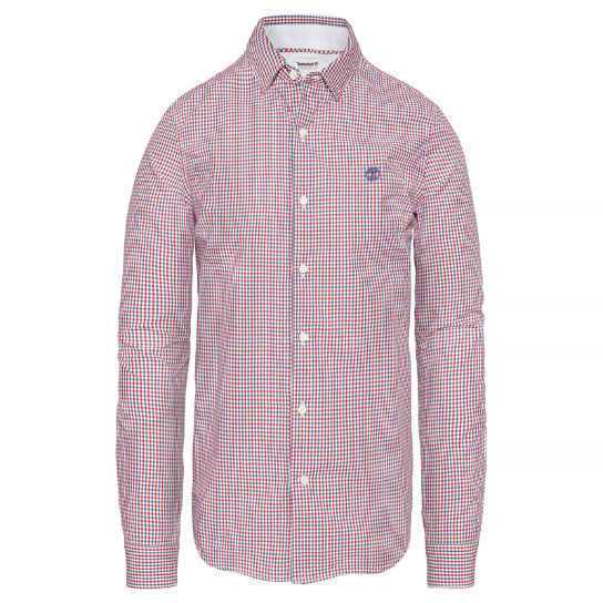 Men's Suncook River Gingham Shirt Blue/Red | Timberland
