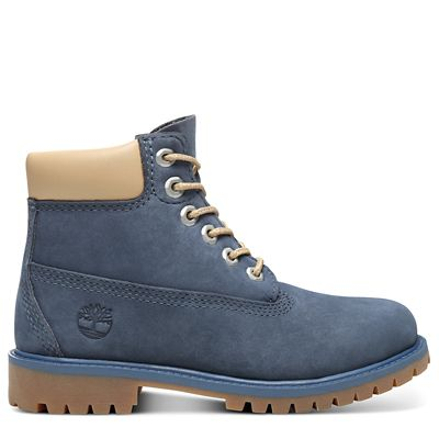 Premium+6+Inch+Boot+for+Youth+in+Blue