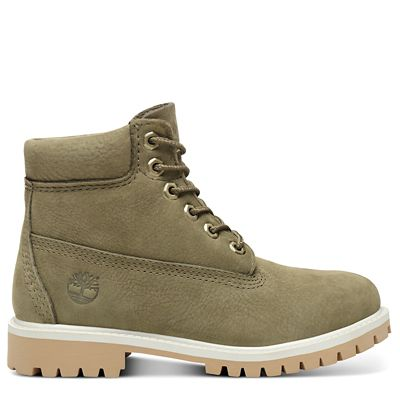 Premium+6+Inch+Boot+for+Youth+in+Green