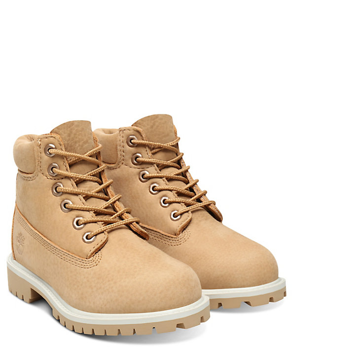 Premium 6 Inch Boot voor Kids in Beige-