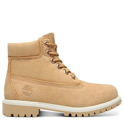 Premium+6+Inch+Boot+for+Youth+in+Beige
