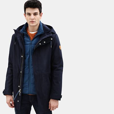 Snowdon+Peak+Fishtail+Parka+for+Men+in+Navy