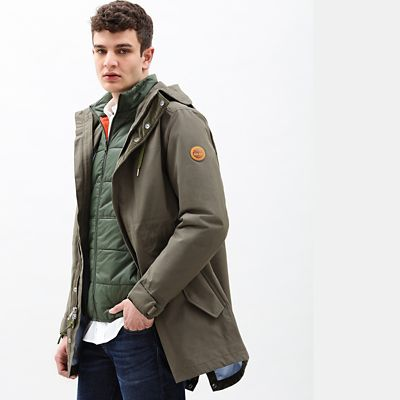 Snowdon+Peak+Fishtail+Parka+for+Men+in+Green