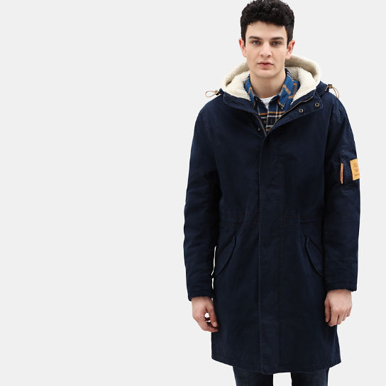 Mt. Kelsey Cotton Parka for Men in Navy | Timberland