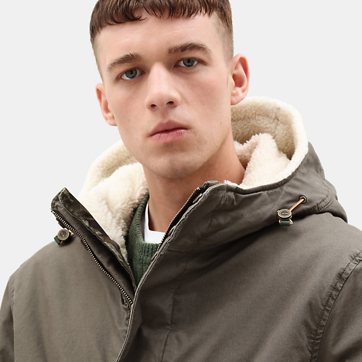 Mt. Kelsey Cotton Parka for Men in Green-