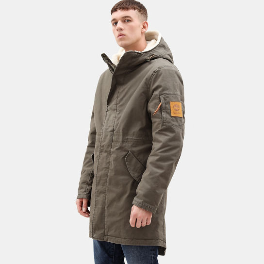 Mt. Kelsey Cotton Parka for Men in Green | Timberland
