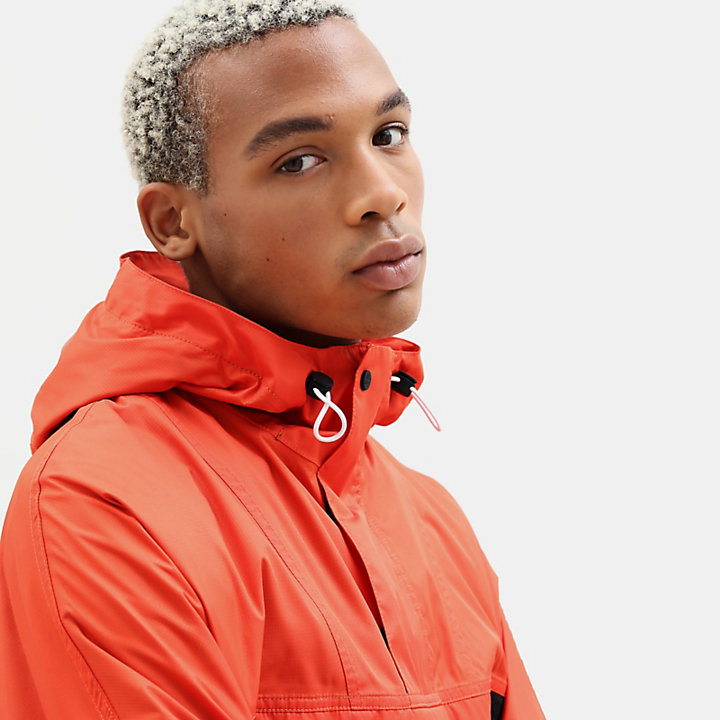 Hooded Outdoor Archive Anorak for Men in Orange-