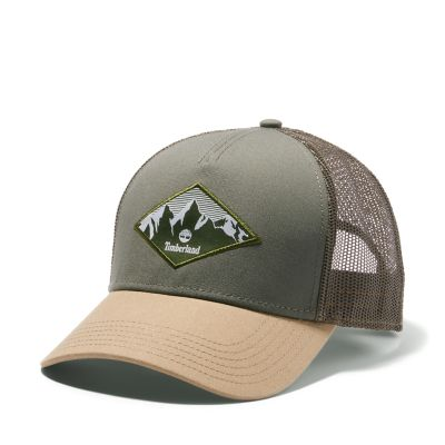 Trucker+Cap+for+Men+in+Dark+Green