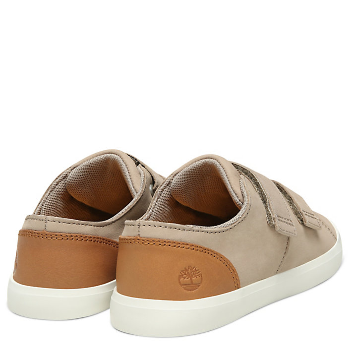 Newport Bay Leather Trainer for Youth in Beige-