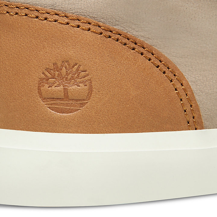 Basket en cuir Newport Bay pour enfant en beige-