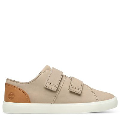 Newport+Bay+Leather+Trainer+for+Youth+in+Beige
