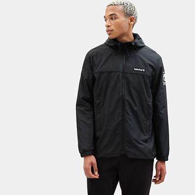 Zipped+Windbreaker+voor+Heren+in+zwart