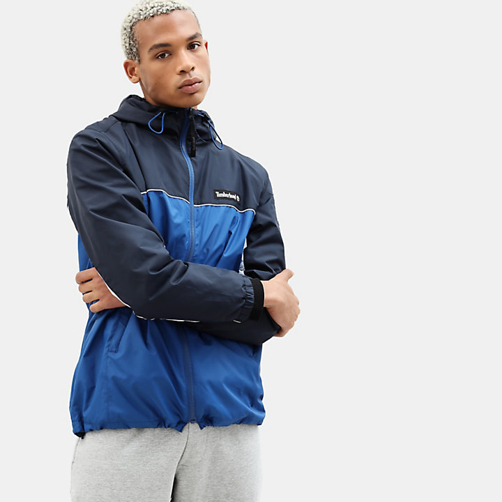 Zipped Windbreaker for Men in Blue/Navy-