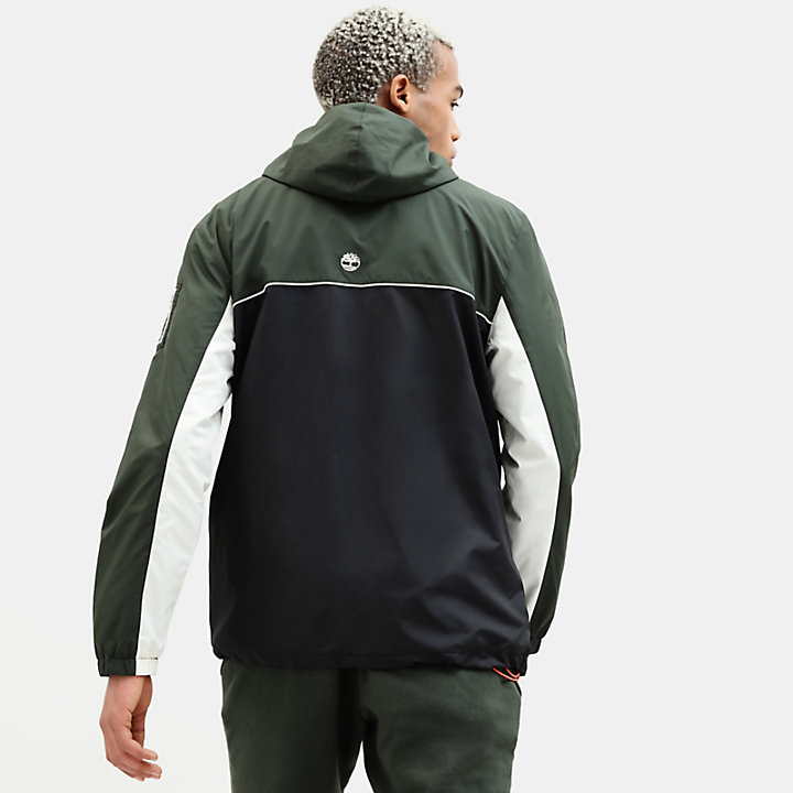 Zipped Windbreaker for Men in Green/Black-