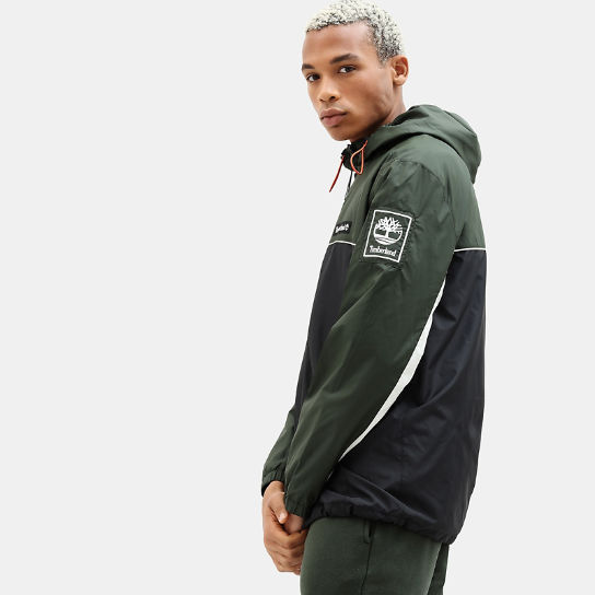 Zipped Windbreaker for Men in Green/Black | Timberland