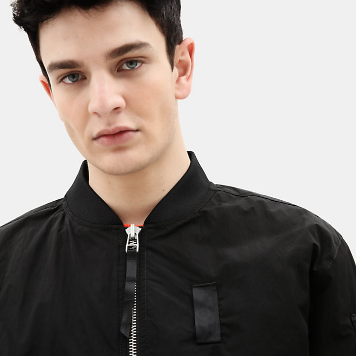 Bomber Jacket for Men in Black-