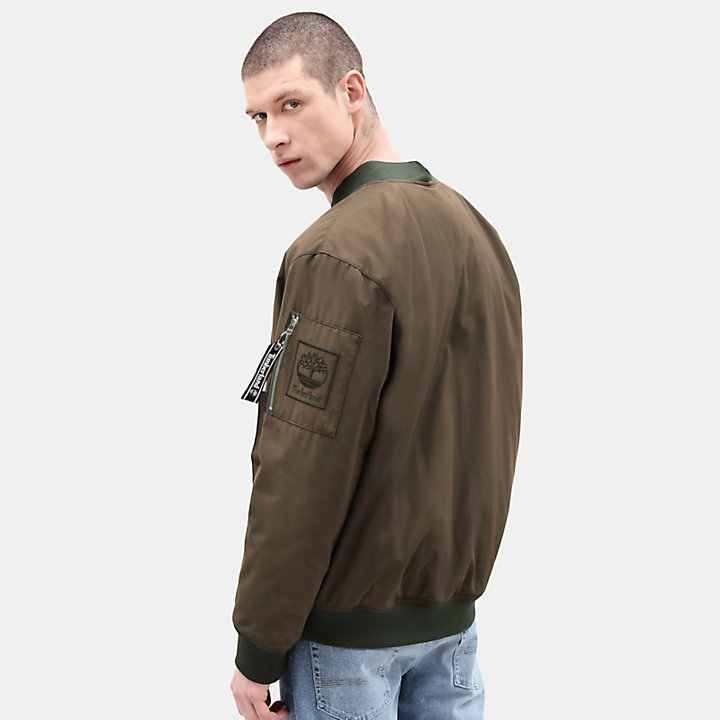Bomber Jacket for Men in Green-