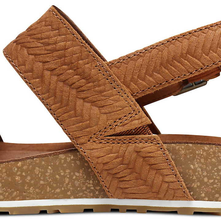 Malibu Waves 2-Band Sandal for Women in Brown-