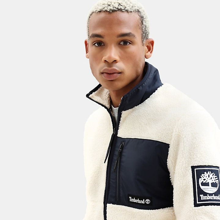 Archive Sherpa Fleece Jacket for Men in Navy-