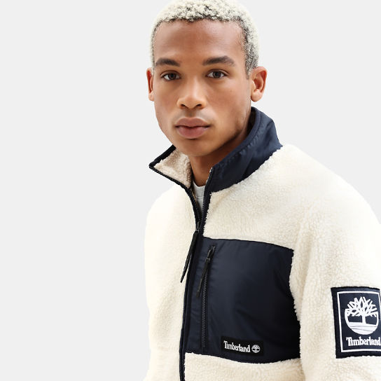 Archive Sherpa Fleece Jacket for Men in Navy | Timberland