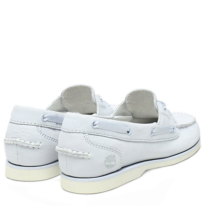 Classic Unlined Boat Shoe for Women in Light Blue-