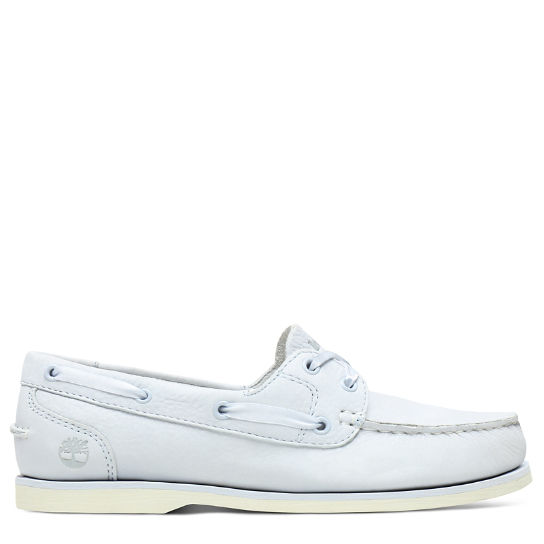 Classic Unlined Boat Shoe for Women in Light Blue | Timberland