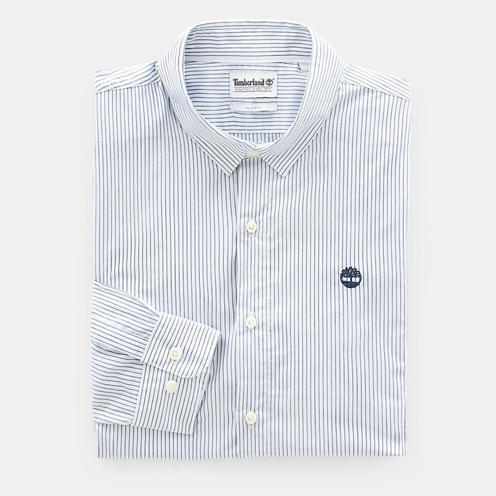 Suncook River Striped Shirt for Men in Light Blue-