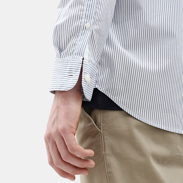 Suncook River Striped Shirt for Men in Light Blue-