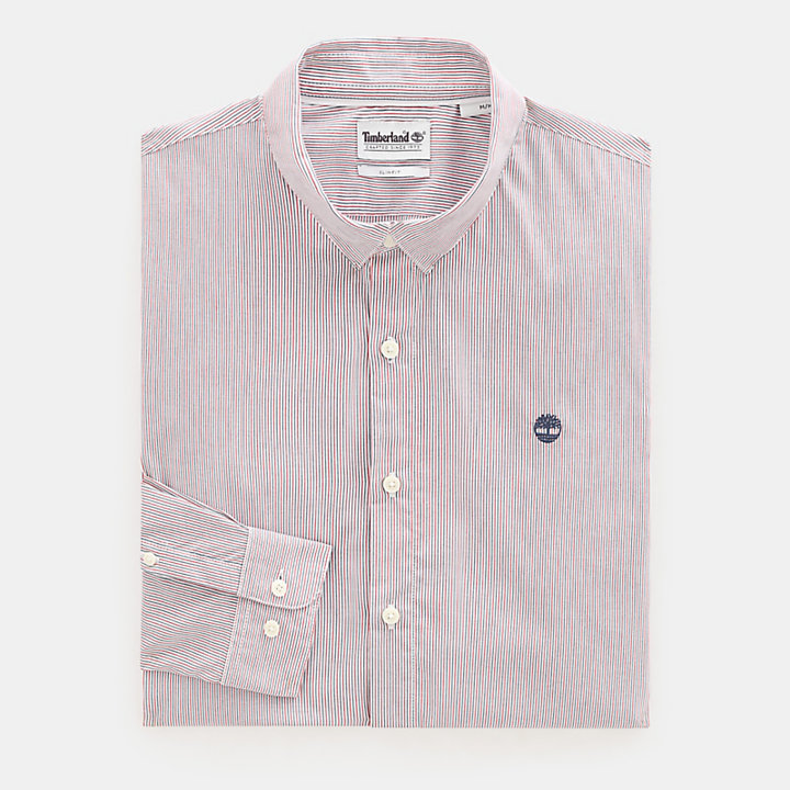 Suncook River Striped Shirt for Men in Pink-