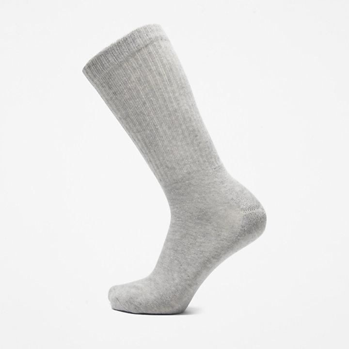 Stratham 3-Pack Crew Sport Socks for Men in Grey-